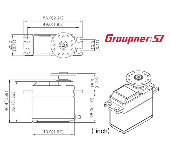 Graupner HBS 880 BBMG High Speed HD Standard 7.4V Brushless Servo