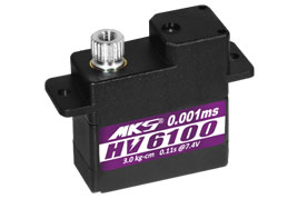 MKS HV6100 High Torque Coreless Wing Servo (DLG/HLG/F3X)