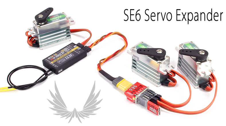 Elite SE6 Servo Channel Expander Serial to PWM (Jeti EX, Graupner HoTT, Futaba S.Bus2)