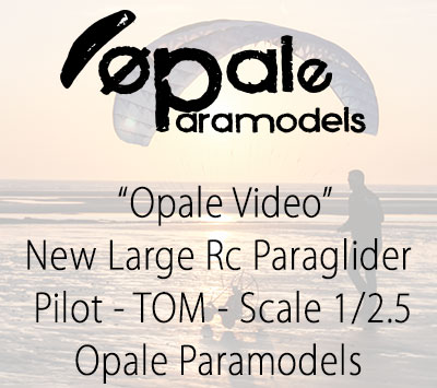 New Large Rc Paraglider Pilot - TOM - Scale 1/2.5 - Opale Paramodels