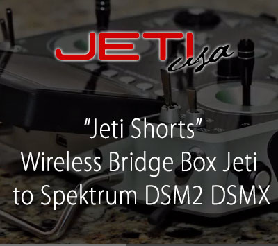 Wireless Bridge Box Jeti to Spektrum DSM2 DSMX