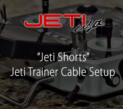 Jeti Trainer Cable Setup