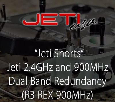 Jeti 2.4GHz and 900MHz Dual Band Redundancy (R3 REX 900MHz)