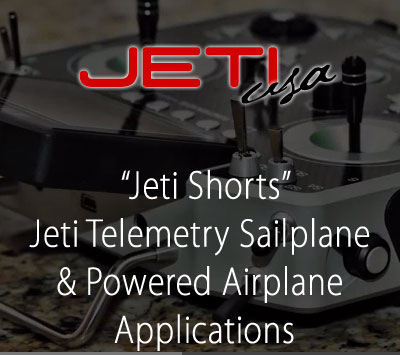 Jeti Telemetry Sailplane & Powered Airplane Applications