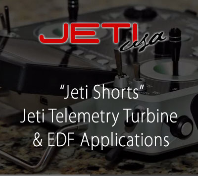 Jeti Telemetry Turbine & EDF Applications